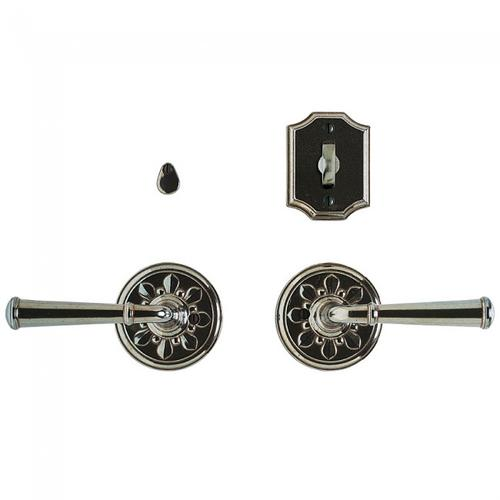 """Rocky Mountain Hardware - Bordeaux Privacy Set - 3 1/4"""" Silicon Bronze Brushed"""