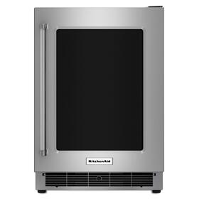 "24"" Stainless Steel Undercounter Refrigerator with Metal-Front Glass Shelves"