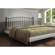 See Details - BED - QUEEN OR FULL SIZE / COFFEE HEADBOARD OR FOOTBOARD