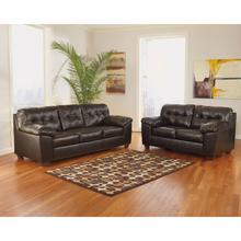 Signature Design by Ashley Alliston Living Room Set in Chocolate Faux Leather [FSD-2399SET-CHO-GG]