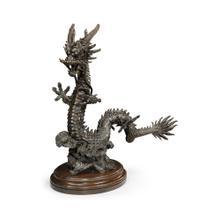 Dark Bronze Right Dragon Statue