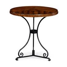 Walnut bistro style parquet table