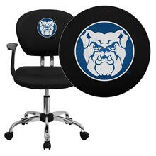 Butler University Bulldogs Embroidered Black Mesh Task Chair with Arms and Chrome Base