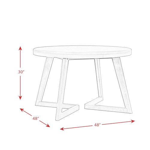 Elements - Cross Round Dining Table