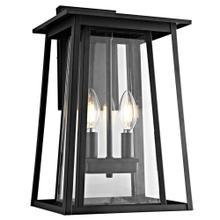 Velza Outdoor Wall Lantern - Black