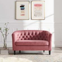 Prospect Performance Velvet Loveseat in Dusty Rose
