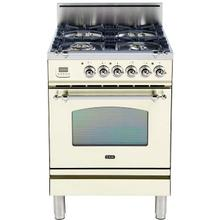 Nostalgie 24 Inch Gas Liquid Propane Freestanding Range in Antique White with Chrome Trim
