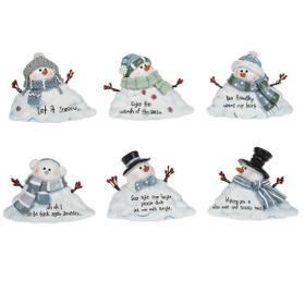 Melting Snowman Figurines (6 pc. ppk.)