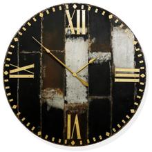 PATINA PATCHWORK  46ht X 46w X 3d  Large Metal Steam Punk Inspired Wall Clock made of Patchwork Me