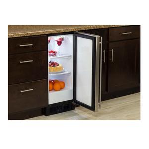 """Marvel 15"""" All Refrigerator - Black Door - Right Hinge"""