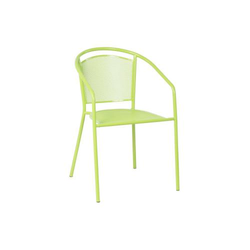 Martini Iron Mesh Bistro Stackable Chair