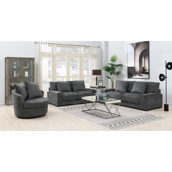 See Details - Big Chill Pewter Swivel Chair, AC4438