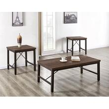 Jersey 3-Piece Set (Cocktail & 2 End Tables)