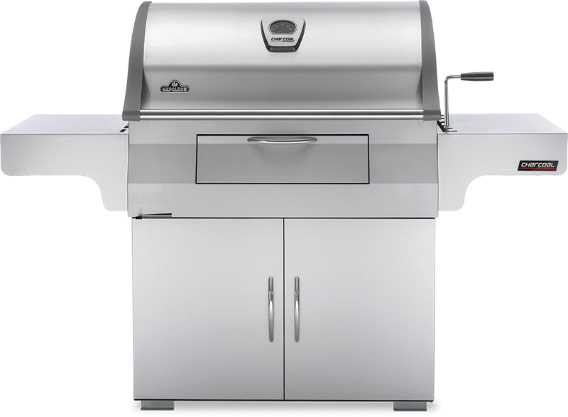 Napoleon BBQCharcoal Professional Cart Grill , Stainless Steel , Charcoal