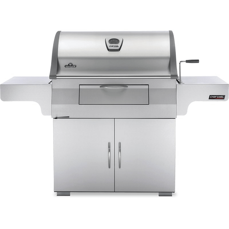 Charcoal Professional Cart Grill , Stainless Steel , Charcoal