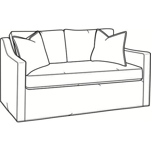 Braxton Culler Inc - Oliver Bench Seat Loveseat with Slipcover