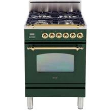 24 Inch Emerald Green Natural Gas Freestanding Range