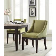 Monarch Easy-care Velvet Wingback Chair In Basil Velvet Fabric With Solid Wood Legs and Inner Spring Cushioned Seat