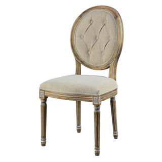 See Details - Meg Tufted Side Chair (french Linen)