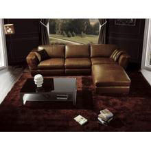 Divani Casa BO3960 Contemporary Brown Leather Sofa Set