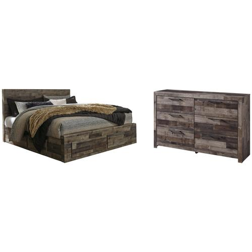 Ashley - King Panel Bed With 2 Storage Drawers With Dresser