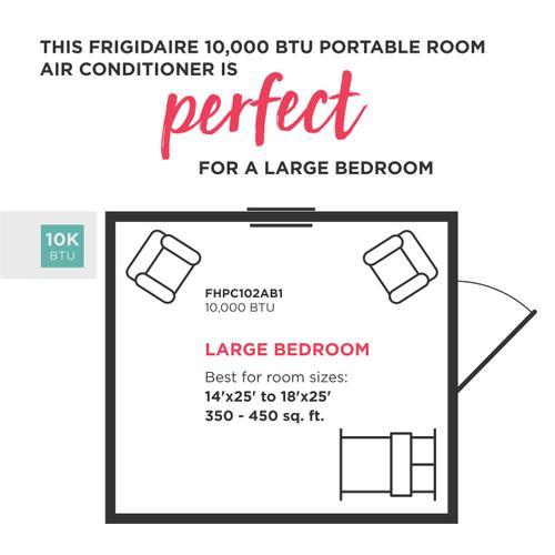 Frigidaire - Frigidaire 10,000 BTU Portable Room Air Conditioner with Dehumidifier Mode