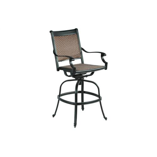 Pilot Bar Wicker Cast Swivel Arm Chair