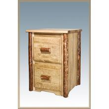 Glacier Country Log 2 Drawer File Cabinet