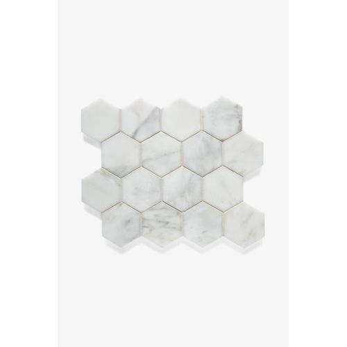 "Studio Stone 3"" Hexagon Mosaic in Graystone Polished"