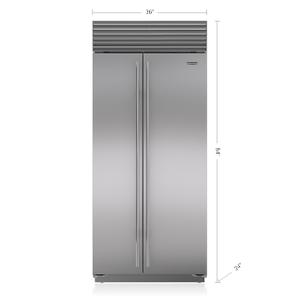 """Sub-Zero36"""" Classic Side-by-Side Refrigerator/Freezer"""