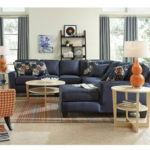 ANNABEL 6PC Stationary Sectional Sofa w/Beveled Arm