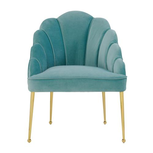 Tov Furniture - Daisy Petitie Sea Blue Velvet Chair