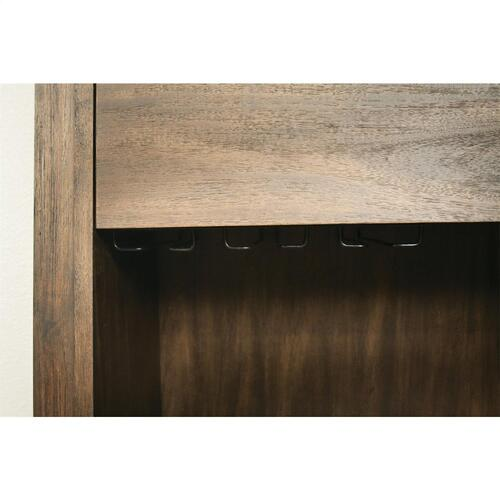 Riverside - Perspectives - Bar Cabinet - Brushed Acacia Finish