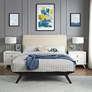 Tracy Queen Bed in Cappuccino Beige