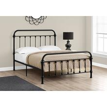 See Details - BED - FULL SIZE / BLACK METAL FRAME ONLY
