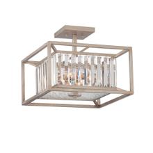 See Details - 3 Light Semi Flush in Silver