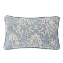 Belle Floral Embroidered Velvet Lumbar Pillow, 16x26