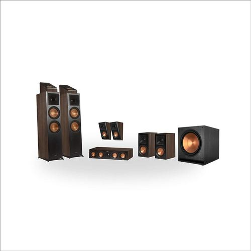 Klipsch - RP-8000F 5.1.4 Dolby Atmos® Home Theater System - Walnut