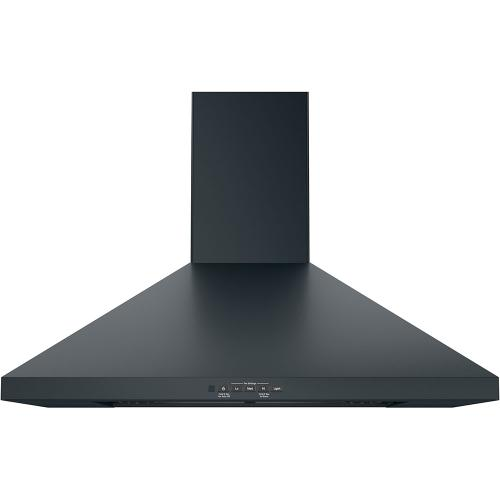 "GE 30"" Wall-Mount Pyramid Chimney Hood Black Stainless Steel - JVW5301BJTSC"