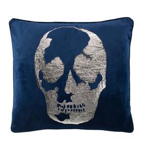 Rayen Pillow - Dark Blue / Silver