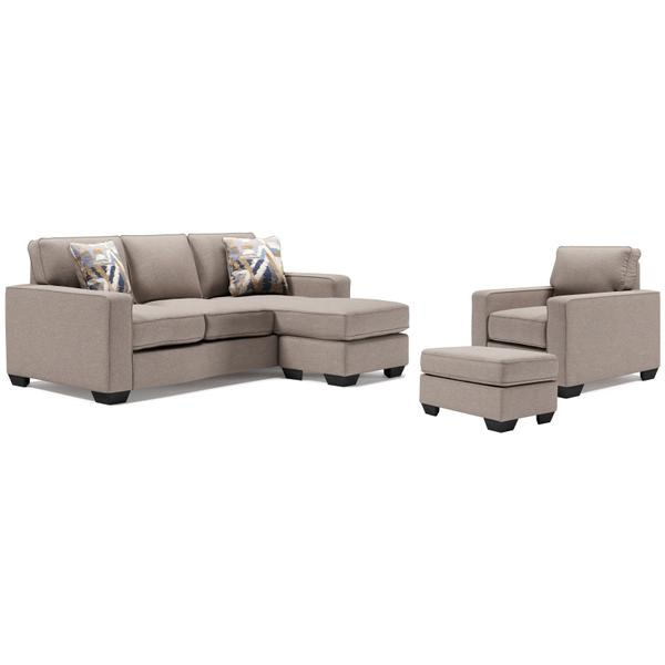 See Details - Sofa Chaise, Chair, and Ottoman