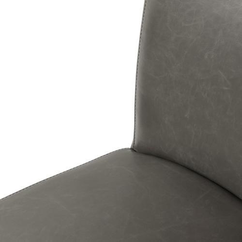 Milton Bonded Leather Counter Stool Wenge Legs, Vintage Gray