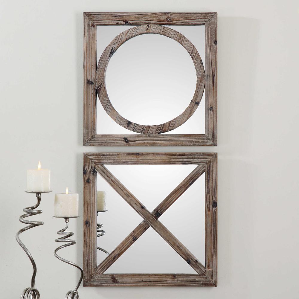 See Details - Baci e Abbracci Square Mirrors, S/2