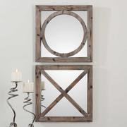 Baci e Abbracci Square Mirrors, S/2 Product Image