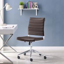 See Details - Jive Armless Mid Back Office Chair in Brown