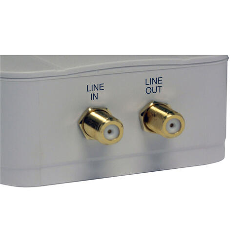 2 Outlet Direct Plug-In Surge Protector with Coax.
