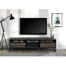 """See Details - 2022 RUSTIC GRAY Faux Wood TV Stand - 71"""" L"""