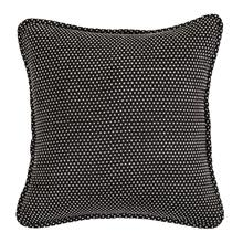 Blackberry Polka Dot Pillow Reversed To Solid Black