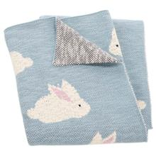 See Details - Looloo Throw - Blue / White