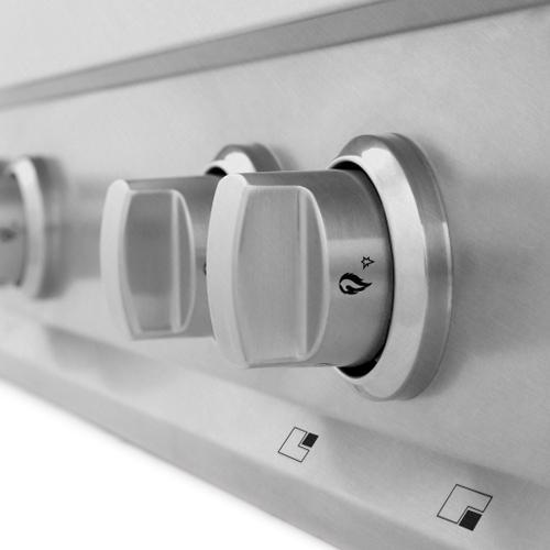 "Zline Kitchen and Bath - ZLINE 36"" Porcelain Gas Stovetop in DuraSnow® Stainless Steel with 6 Gas Burners (RTS-36) [Color: DuraSnow® Stainless Steel]"